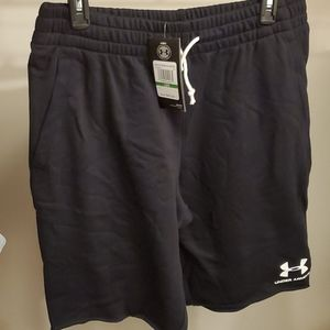 Under Armour Black Terry Shorts